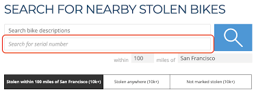 Bike Serial Numbers