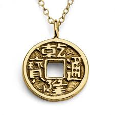 necklaces amulets and symbols gold plated necklace lucky chinese feng shui coin spiritual double sided save loading zoom