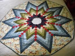 image of round quilted tree skirt pattern
