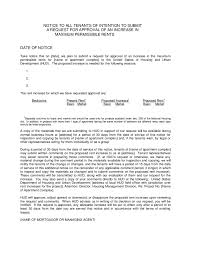 how to write a rent increase notice rent increase letter template gse bookbinder co