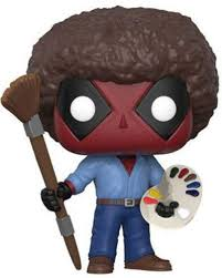 Funko POP! Marvel: Deadpool Playtime- Bob Ross ... - Amazon.com