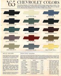 Interior Color Chart 1964 Impala Interior Color Chart
