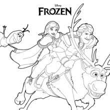 Small Picture Frozen anna and olaf coloring pages Hellokidscom
