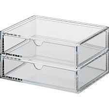 acrylic box 2 drawers narrow