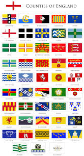 English County Flags Chart Flags Of The Counties Of England County Flags Flags Of