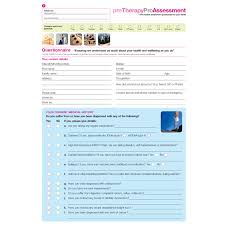 Physiotherapy Clinical Assessment Form Collection Download Option