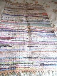 rag rug runner vintage hand made woven rag rug runner cotton material rag rug runner diy