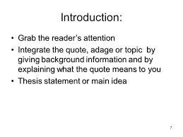 informative explanatory prompt essay based on a quote ppt video 7 introduction