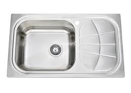 top mount drop in single bowl cleaning stainless steel commercial kitchen sinks with drainboard