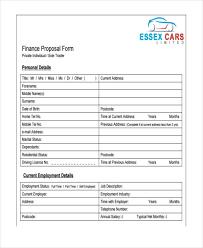 Job Proposal Form Free 36 Sample Blank Proposal Forms Pdf