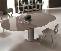 Table Ronde Verre Laqué Gris Design Bontempi Casa Sur Cdc Design
