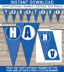 pool party banner template happy birthday banner editable bunting pool party banner template pool party bunting happy birthday banner birthday party