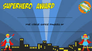 Superhero Award Certificates - Generic By Fairydoesit - Teaching ...