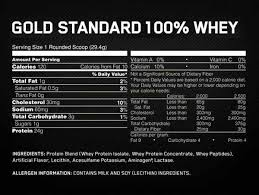 optimum nutrition gold standeard 100 whey protein vanilla ice cream nutrition information