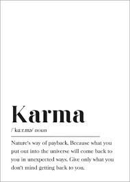 Johanna Von Pulse Of Art Karma Definition Englisch Poster Online