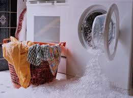 washing machine spills soap