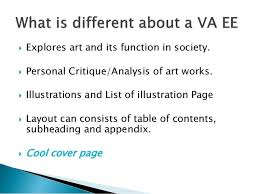 visual arts extended essay now go and do great things
