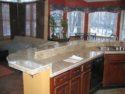 Granite Tile Kitchen Countertops Countertop Without Backsplash Bathroom Remodeling Medium Size