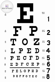 4 Example Of A Snellen Eye Chart And A Tumbling E Chart