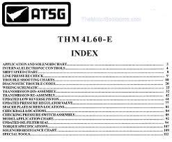 4l60e Troubleshooting Chart 4l60 Transmission Rebuild Manual