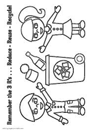 Reduce Reuse Recycle Coloring Pages For
