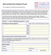 School Forms Templates Magdalene Project Org