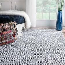 nuloom handmade flatweave moroccan trellis navy cotton rug 5 x