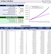 savings excel spreadsheet free savings calculator for excel