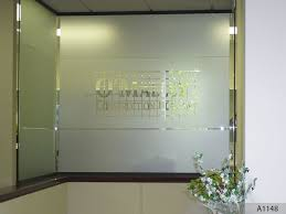 logo on glass door using etched or frosted vinyl for that high profile professional and sleek look