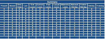Attendance Sheet Template Monthly Excel Employee Training Free ...