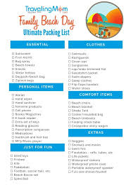 Packing For Vacation Lists Complete List Of Things To Pack For A Day At The Beach With
