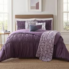 minyar 7 piece purple king comforter set