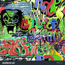 Graffiti Wall Urban Hip Hop Background Stockillustratie 86993327