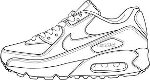 nike shoes drawings. drawing air max 90 shoes coloring page nike drawings