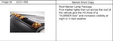 Hummer H3 N1 Lamp Pkg Roof Marker Epc Online Nemiga Com