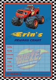 Blaze The Monster Machines Reward Behaviour Chart