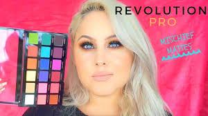 testing new makeup revolution pro mischief mattes palette