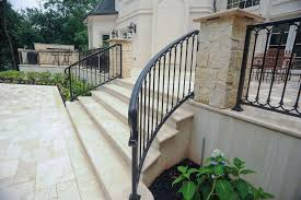 What are the shipping options for iron stair railings? Exterior Railings Compass Iron Works