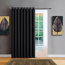Warm Home Designs Warm Home Designs Extra Wide Black Patio Door Curtains Wall To Wall Room Dividers