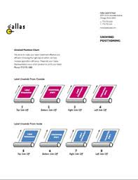 Label Unwind Chart Make Sense Of Direction Information Center Gallas Label