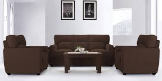 Brown sofa sets Leather Sofa Buy Octo Sofa Set 3 1 Seater In Dark Brown Colour By Vive Online Sofa Sets Sofas Pepperfry Flipkart Buy Octo Sofa Set 3 1 Seater In Dark Brown Colour By Vive