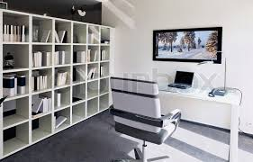 carpet for home office. Modern Interior Of Home Office With Writing Table   Stock Photo Colourbox Carpet For D
