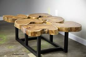 funky wood furniture. Funky Coffee Table. Teak Slab/crosscut Top. Live Edge Wood. Custom. Wood Furniture G