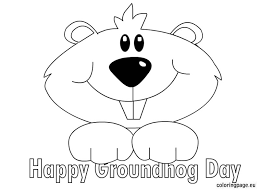 Small Picture Groundhog Coloring Pages FunyColoring