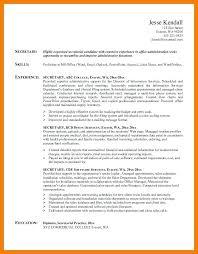 Objective Sample For Resumes Secretary Resume Objective Examples Skinalluremedspa Com