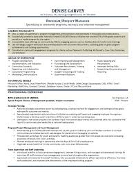 100 Project Manager Resume Template Word Cv Templates In