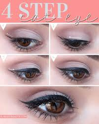 creating a cat eye liner makeup look takes practice but you can get it down in only 4 steps see how to do it yourself slashed beauty