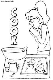Small Picture Cook coloring pages Coloring pages to download and print