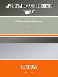 Apsa Citation And Reference Format Citation Academia