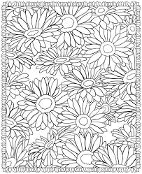 Floral Coloring Pages Sunflowers Coloringstar